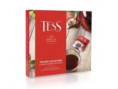 Чай в пакетиках Tess Коллекция 12 видов,101г 60 шт